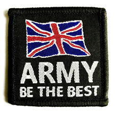 GENUINE MILITARY CLOTH BADGE sew on be the best union jack GB patch Army soldier
