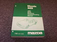 1993 Mazda 929 Sedan Body Electrical Wiring Diagram Manual 3.0L V6