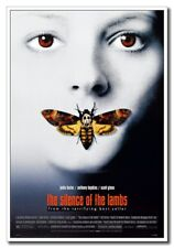 "The Silence Of The Lamb Jodie Foster 12""x8"" Horror Movie Silk Poster Cool Gift"