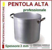 PENTOLA ALTA 2 maniglie AGNELLI ALLUMINIO PENTOLE ALTE misure GRANDI RISTORANTE