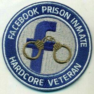 Facebook Patch Prison Inmate Hardcore Veteran Patch Outlaw Biker Trump Biden