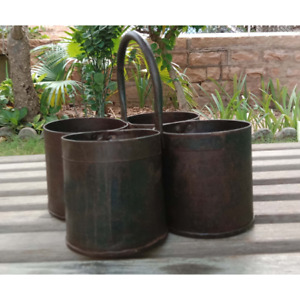 Vintage Iron hanging planter Indian small Home decorative balcony flower planter