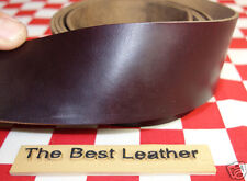 "Horween Chromexcel Burgundy #8 Leather Hide 6 oz. 22""x20mm Belt Strap 2nd Qlty"