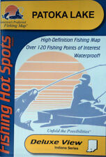 Patoka Lake Detailed Fishing Map, GPS Points, Waterproof, Depth Contours #L193