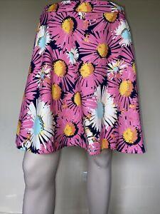 SPORTSGIRL Pink Floral 60s vintage style Short Skirt sz 6