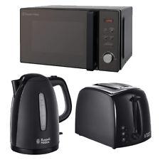 20L Microwave  RHM2076B Kettle Toaster Set 800w Solo Black Russell Hobbs Sale