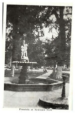 Indiana Postcard Fountain at Newtown Park Greetings from Lawrenceburg, IN WD2