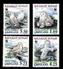 SELLOS TEMA WWF GROENLANDIA 1999 Nº 310/3 AVES 4v.