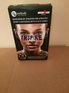 Yurbuds sport earphones, Ironman Series, blue, NEW, made with Kevlar Wires,