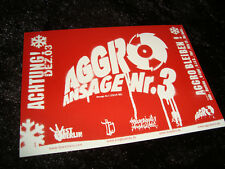 AGGRO BERLIN SIDO B-TIGHT BUSHIDO FLER STICKER AUFKLEBER 14x10cm RAP HIP-HOP