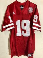 Adidas Authentic NCAA Jersey Nebraska Huskers #19 Red sz 52