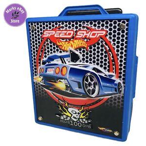 Hot Wheels Speed Shop Holds 100 Cars Blue Carrying Case w Wheels 2002 Mattel