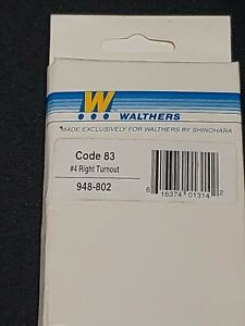 Walthers (Shinohara) CODE-83/#4 Right Turnout 948-802 NEW IN BOX 🚂