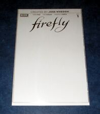 Firefly #1 Blank variant Nm 1st print Boom Comic Book 2018 Joss Whedon Serentiy