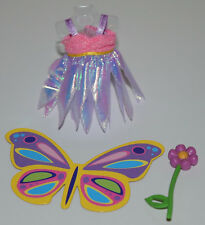 KELLY DOLL CLOTHES SHOES * BUTTERFLY COSTUME, FLOWER WAND