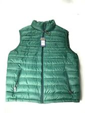 POLO RALPH LAUREN Mens packable down Green vest Large NEW body warmer Navy