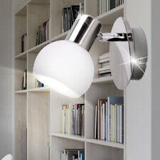 Applique murale spot argent blanc salon lampe de lecture en verre réglable neuf