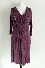 JOJO Maman Bebe Maternity Dress Nursing Small Navy & Red Twisted Tie knot
