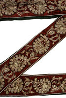 Vintage Sari Lace Border Trim Embroidered Sewing Antique Ribbon Lace 1 Yd ST2540