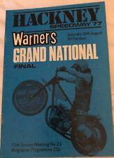 Hackney Speedway: 3 Programmes 1977 Superama, Grand National And Grande Prix
