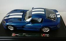 BURAGO 1:24 AUTO DIE CAST DODGE VIPER GTS COUPE 1996 MADE IN ITALY      ART 1530