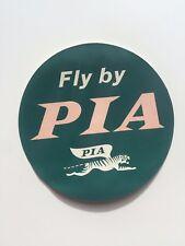 Vintage Airline Sticker / Luggage Label -- Pakistan International Airlines