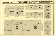 Verlinden 1:20 1:24 Petroleum Cardboard Packing Boxes for Truckloads No.2 #41