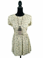 Floral Retro Dresses for Women with Pleated