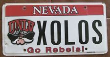 Nevada 2014 UNLV REBEL GRAPHIC VANITY License Plate XOLOS