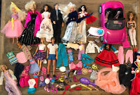 Barbie Lot Dolls Clothes Accessories Car Some Vintage Dog Spa Peaches And Cream