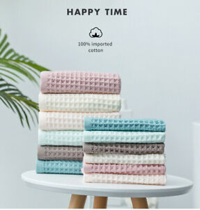3PCS The Towel Set Waffle Bath Towel bath towel +hand towel +face towel
