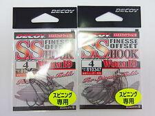 DECOY - 2pack x S.S HOOK WORM 19 #4