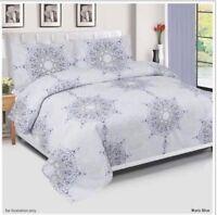 New 100% Egyptian Cotton 200TC Complete Duvet Cover set Bedding Set 4pc all size