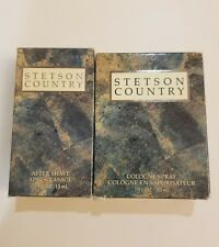 STETSON COUNTRY Cologne 1.0 fl oz ( 30 ml) and After Shave 0.5 fl.oz ( 15 ml)