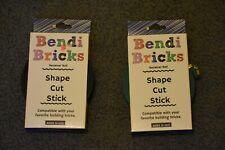 Bendi Bricks Receiver Roll Green Black Shape Cut Stick Building Lego New! Lot 2