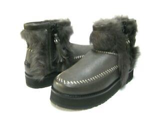 UGG FLUFF PUNK WOMEN BOOTS SUEDE BLACK OLIVE US 9 /UK 7 /EU 40