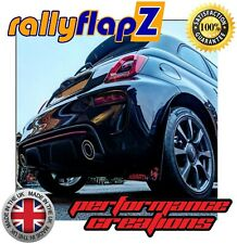 Mud Flaps Mudflaps Rally Style Mud Guards ABARTH 500, 595, 695 Black Logo Red