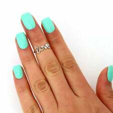Sterling Silver 925 Love Knuckle Ring Cute Adjustable Midi Ring T111