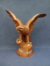 """Black Forest Eagle spread wings, large statue nearly 25""""high, very impressive"""
