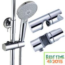 Replacement Adjustable Shower Head Holder 25mm Slider Rail Bracket Chrome
