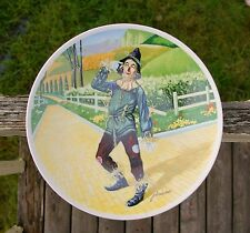 """Wizard Of Oz 8 1/2"""" Plate Over The Rainbow Knowles Scarecrow James Auckland"""