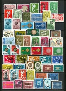 Europa Cept  mix of MNH and used,  56 Postage Stamps