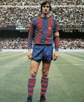 Johan Cruyff Barcelona Legend Photograph Print 8x6 Hologramed Football