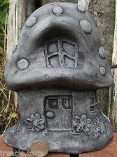 Fairy Door Toadstool Shape Hand Cast Stone Garden Ornament 15x5x19 cm 1.28 Kg
