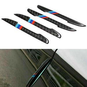 4PCS Carbon Fiber Car Door Plate Sill Scuff Cover Anti Scratch Sticker Protector