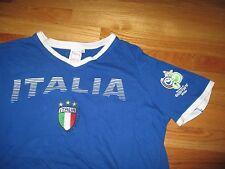 ITALIA FIFA WORLD CUP Soccer (LG) V-Neck T-Shirt Jersey