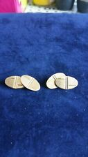 Vintage Rolled Gold Cufflinks in Good Condition
