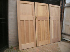 More details for reclaimed 1930s 1 over 3 panel stripped pine doors.