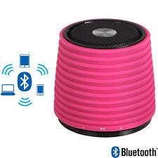 Mini Cassa Portatile Altoparlante Bluetooth Rosa Ingresso AUX in Connettore USB