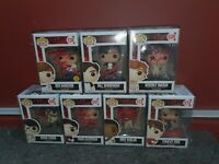 """LOT OF 7 SIGNED FUNKO POPS FROM THE """"LOSERS CLUB"""" FROM THE MOVIE IT"""